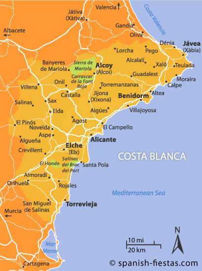 Map Of Spain Benidorm.Costa Blanca News Counter Culture