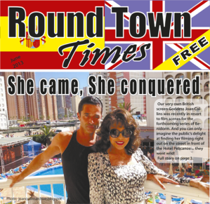 The Round Town Times distributes 25,000 free copies a month.  It's Benidorm's largest circulation English-language paper.